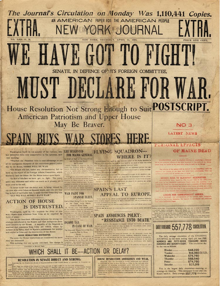 Spanish American War Headlines